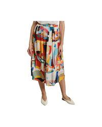 Abstract Funk long skirt G.Kero en coloris White
