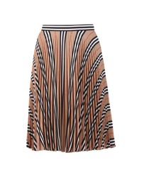 Burberry Pleated Skirt in het Natural
