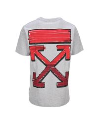 T-Shirt Marker Slim di Off-White c/o Virgil Abloh in Gray da Uomo