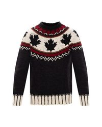 DSquared² Patterned Sweater in het Black voor heren
