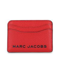 Marc Jacobs Card Case With Logo in het Red