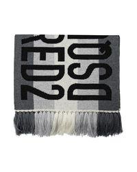 Écharpe avec logo DSquared² pour homme en coloris Gray