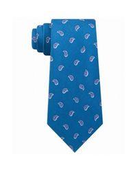 Camplin Neck Tie Small Pine Toss Paisley Skinny in het Blue voor heren