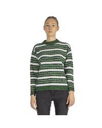 Plan C Striped Sweater in het Green