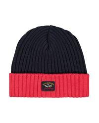 Paul & Shark Knitted Hat C.w. Hats 411 in het Black voor heren