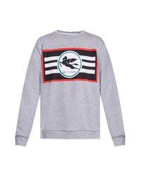 Etro Logo Sweatshirt in het Gray voor heren