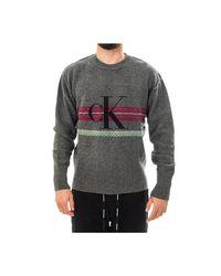 Maglione Monogram Chest Sweat J30J313169.p2D di Calvin Klein in Gray da Uomo