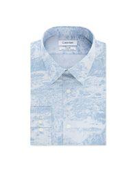 Calvin Klein Shirt in het Blue voor heren
