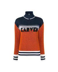 Carven Color Block Sweater in het Orange