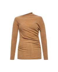 Agnona Cashmere Sweater in het Natural