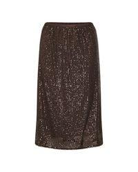 Soaked In Luxury Nicoline Skirt in het Brown