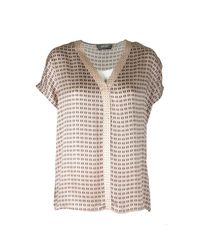 Ariana Retro Blouse 134610 Wet Weather di Mos Mosh in Natural
