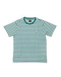 Obey Maglietta Icon Stripe Tee Iii in het Green voor heren