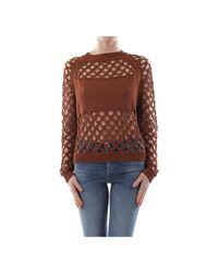 Pinko Brotola Knitwear Women in het Brown