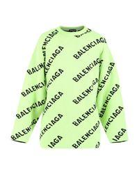 Balenciaga Branded sweater in Green für Herren