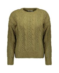 ONLY Onlchanet L/s Pullover Knt in het Green
