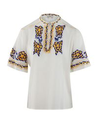 Miguel blouse di Moschino in White