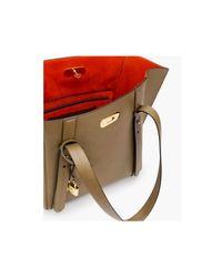 Turn-lock tote bag Marrón ESCADA de color Brown