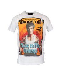 DSquared² T-shirt S71gd0901 S22507 in het White voor heren
