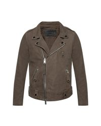 AllSaints 'kalix' Leather Jacket in het Brown voor heren