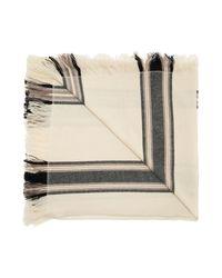 Isabel Marant Carver Patroon Sjaal in het Natural