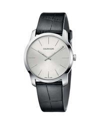 Calvin Klein Horloge Ur K2g221c6 in het Black