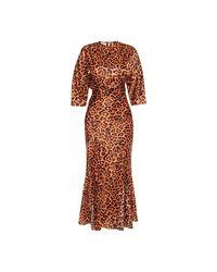 The Attico Dress in het Brown