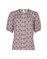 iN FRONT Marcia Blouse 1/2 Sleeve Bluser 14448 in het Pink
