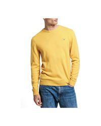 Gant Superfine Lamswol Crew in het Yellow voor heren
