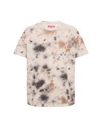 Diesel Red Tag Patterned T-shirt in het Natural voor heren