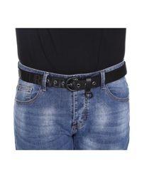 Versace Jeans Solid Color Rope Belt With Print in het Black voor heren