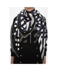 Silk scarf with logo Negro Church