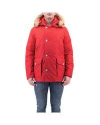 Woolrich Artctic Anorak Jacket in het Red voor heren