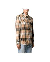 Burberry Shirt in het Natural voor heren