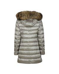 Coat Gris Woolrich de color Gray