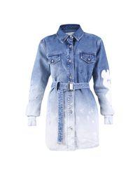 Off-White c/o Virgil Abloh Denim Dress in het Blue