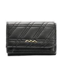 Zanellato Compact Zeta Quilted Wallet in het Black