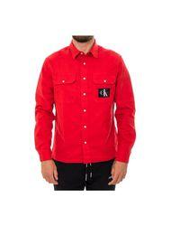 Camicia Uomo Jeans Archive Iconic Utility J30J312496.688 di Calvin Klein in Red da Uomo