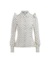 KENZO Cotton Shirt in het White