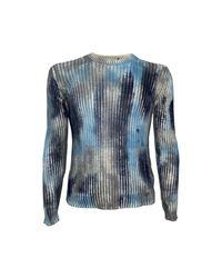 Canali Girocollo Costa Tie Dye Knitwear in het Blue voor heren