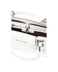 'Blakely quilted shoulder bag Blanco Michael Kors de color White