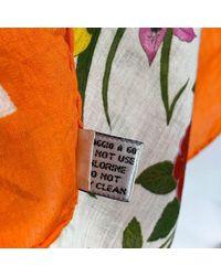 Floral Cotton Neck Scarf Flora 1966 Accornero Gucci en coloris Orange