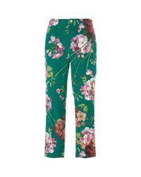 Gucci Blooms Print Pyjama Pants in het Green