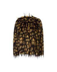 Reese Short faux-fur jacket di Dries Van Noten in Brown
