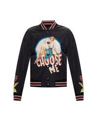 Dolce & Gabbana Bomber Jacket With Logo in het Black voor heren