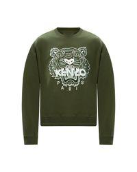 KENZO Logo Sweatshirt in het Green voor heren