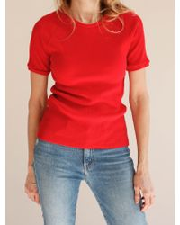 Bliss and Mischief | Red Rib Slim Tee | Lyst