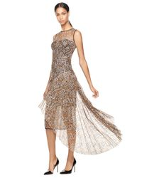 MILLY | Metallic Geo Sequined Tulle Katia Dress | Lyst