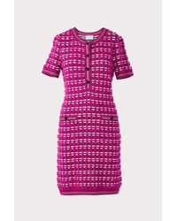 MILLY Purple Tweed Fitted Dress