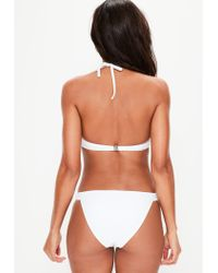 Missguided White Low Rise Hipster Bikini Bottoms - Mix & Match